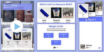 Maths Intervention Weight Unit Pack - SEN, special needs, intervention, maths, measure, weight