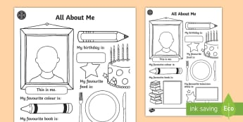 Middle East All About Me Worksheet / Activity Sheet -  introduction, Back To School, First Day, New School, UAE, Dubai, New Class, Writing Task, Holiday W