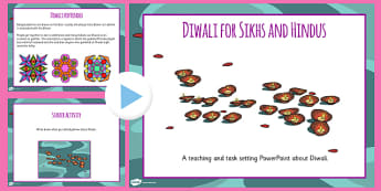 Diwali for Sikhs and Hindus Lesson Teaching PowerPoint - RE