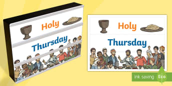Holy Thursday Light Box Inserts - Religion, holy thursday light box inserts, light box, holy week, holy thursday, the last supper, the