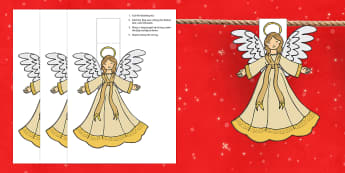 Christmas Angel Bunting - christmas, angel, bunting, display