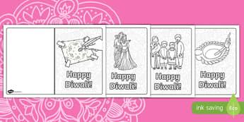 Diwali Greeting Cards Template