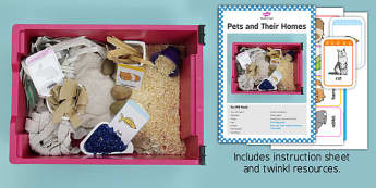 Pets and Their Homes Sensory Tray Printable Resource Pack - pets