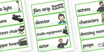 Film Studio Role Play Labels - film studio, role play, labels, film studio role play, film studio labels, movie studio, labels for film studio