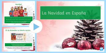 Christmas in Spain Information and Quiz KS3 PowerPoint Spanish - Christmas Spain, powerpoint, navidad, quiz, information