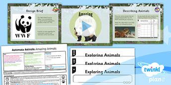 Design and Technology: Automata Animals: Amazing Animals UKS2 Lesson Pack 1
