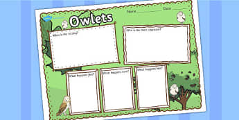 Owl Babies Book Review Writing Frame - owl babies, book review, writing frame, book review writing frame, writing aid, writing template, writing, frame