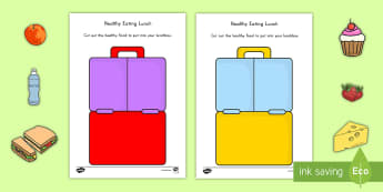 Healthy Eating Lunch Activity - food, eating, healthy food, activity, fruit