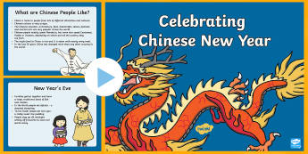 Celebrating Chinese New Year PowerPoint - ESL Chinese New Year Resources