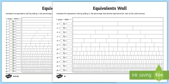 Fractions Wall Primary Resources