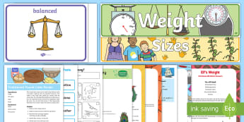 Maths: Weight EYFS Resource Pack - childminding, child minder, Maths, Mathematics, weight, Sensory Play, heavy, light, shape space and