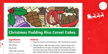 Christmas Pudding Rice Cereal Cakes Recipe - christmas pudding, christmas, pudding, rice cereal cakes, rice krispies, cakes, recipe
