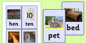 CVC Photo Word Cards e - cvc,  eal, eal reading, eal cvc, word cards, photo word cards, word flash cards, flash cards, words, key words, keywords, key word cards, photo cards, cards