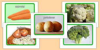 Vegetable Display Posters - vegetable, flashcards, flash cards, food, eal, activit, display, postre,
