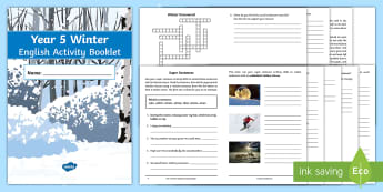 Year 5 Winter English Activity Booklet - Holiday Booklet, Homework Booklet, Y5, Spag, Writing Activity, Reading Activity