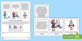 Newton's Laws of Motion Foldable Activity Sheet - Sir Isaac Newton, rocket science, forces, eaual and opposite reaction, worksheet