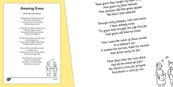 Amazing Grace Hymn Lyric Sheet - amazing grace, hymn, lyric, sheet, amazing, grace