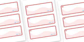 England Themed Editable Drawer-Peg-Name Labels (Colourful) - Themed Classroom Label Templates, Resource Labels, Name Labels, Editable Labels, Drawer Labels, Coat Peg Labels, Peg Label, KS1 Labels, Foundation Labels, Foundation Stage Labels, Teaching