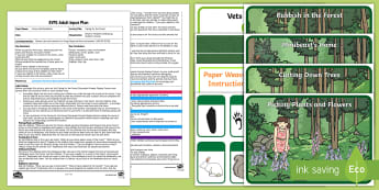 EYFS Caring for the Forest Adult Input Plan and Resource Pack - Forest, Woodland, Care, Concern, Environment, Living Things, Understanding the World, The World, Ani