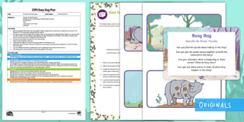Ronald the Rhino Puzzles Sensory Busy Bag Plan and Resource Pack - Rhinoceros, twinkl Fiction, puzzles, rice,