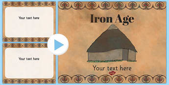 The Iron Age Themed PowerPoint Template - Iron, Age, Template