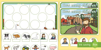 Farm Editable Self-Registration Hungarian Number Picture Resource Pack - Farm, Farm animals, Farmer, Ten Frame, Maths Mastery, Counting, Number, Calculating, Self-Registrati