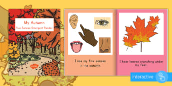My Fall Five Senses Emergent Reader eBook - My Five Autumn Senses Emergent Reader eBook - fall, autumn,  fall ebook autumn ebook, five senses eb