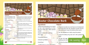 Easter Chocolate Bark Recipe - NI Easter, recipe, chocolate eggs, bark, sweets, present, gift