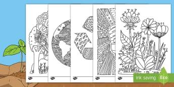 Hojas de colorear: Día de la Tierra - Mindfulness - mindfulness, día de la tierra, la tierra, colorear, colorea, colores, color, pintar, hojas, ,Spanis