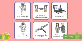 Chapas para juego de roles: Estación espacial - espacio, espacial, actuar, actuación juego, jugar, roles, rol, escenario, decorado, decorados, astr