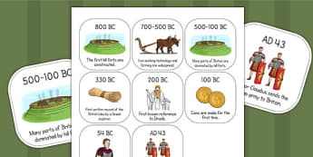 Iron Age Timeline Ordering Activity - time line, visual aid
