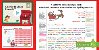 KS1 A Letter to Santa Example/Model Text Resource Pack - father christmas, letter to father christmas, y2, year 2, exemplification, WAGOLL, christmas, letter