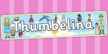 Thumbelina Display Banner - stories, story books, header, display