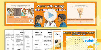 PlanIt Y5 Term 1A W2: -ious and -tious Endings Spelling Pack