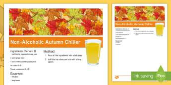 Elderly Care Autumn Chiller Recipe - Autumn, Seasons, Display, September, October, November, Leaves, Harvest, Activity Co-ordinators, Sup