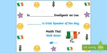 Gaeilgeoir an Lae Display Poster Gaeilge/English - irish, language, week, gaeilgeoir, poster, engklish, gaeilge, lae