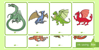 Dragons Display Posters - Fantasy Creatures, Mythical Beasts, Castles, Knights, St George.