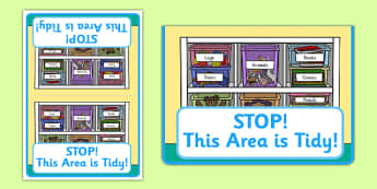 STOP! This Area Is Tidy Cards - stop, area, tidy, clean, cards, this area is tidy