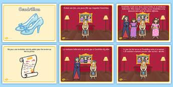 Histoire de Cendrillon - cycle 1, cycle 2, lecture, histoire, compréhension écrite, français, Cendrillon, conte