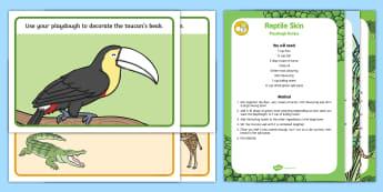Rainforest and Jungle Playdough Recipe and Mat Pack - Jungle and Rainforest, red playdough, green playdough