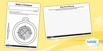 Geography: Our Local Area Year 1 Unit Home Learning Tasks - Compass Point