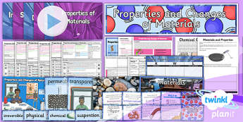 Science: Properties and Changes of Materials Year 5 Unit Pack