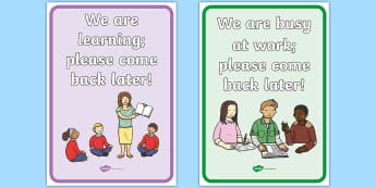 Busy At Work Classroom Signs - busy, work, classroom, signs, classroom signs, busy at work, instructions, area signs, early years signs, early years