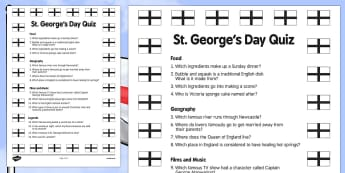 Elderly Care St George's Day Quiz - Elderly, Reminiscence, Care Homes, St. George's Day