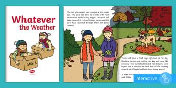 Exploring My World - Whatever the Weather eBook - aistear, story, weather station, rain, sun, holiday, friendship, Irish