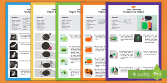 Halloween Themed Craft Activity Pack - halloween, themed, craft, activity, pack
