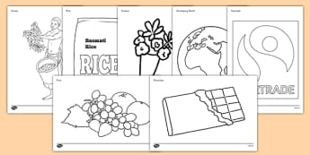 Fairtrade Colouring Sheets - fairtrade, colouring, colour, sheets