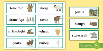 The Céide Fields Word Cards - ROI - The World Around Us - The Ceide Fields , stone age, neolithic, farmers, stone, mayo, history,