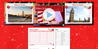 Where Is Santa? PowerPoint Game - Christmas, Atlas, Landmarks, Countries, Continents, Quiz, Game, location