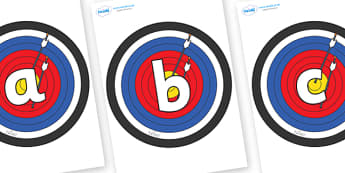 Phoneme Set on Colour Targets - Phoneme set, phonemes, phoneme, Letters and Sounds, DfES, display, Phase 1, Phase 2, Phase 3, Phase 5, Foundation, Literacy